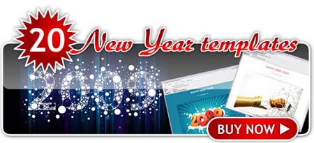 Neujahrs Karten Motive 2009