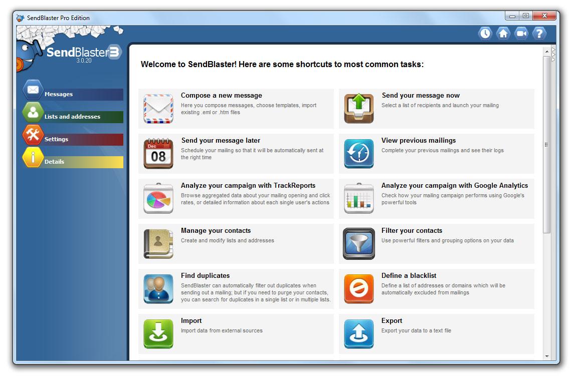 Bulk email software mass email software sendblaster