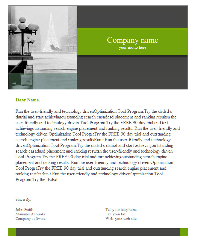 Email Template Sample - Thank You Email Template