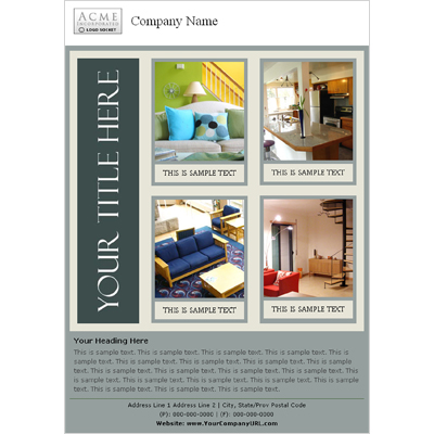 Furniture For Sale Email Catalog Template