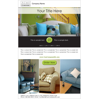 Home Furnishings Email Marketing Template Invitation Design