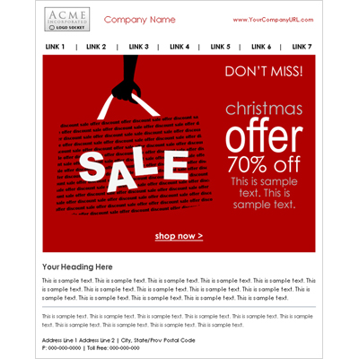 Email Marketing Template Samples  Sendblaster