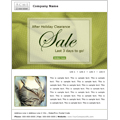 clothing sale email marketing ad template