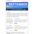monthly email marketing newsletter template