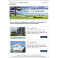 email newsletter template design for travel events
