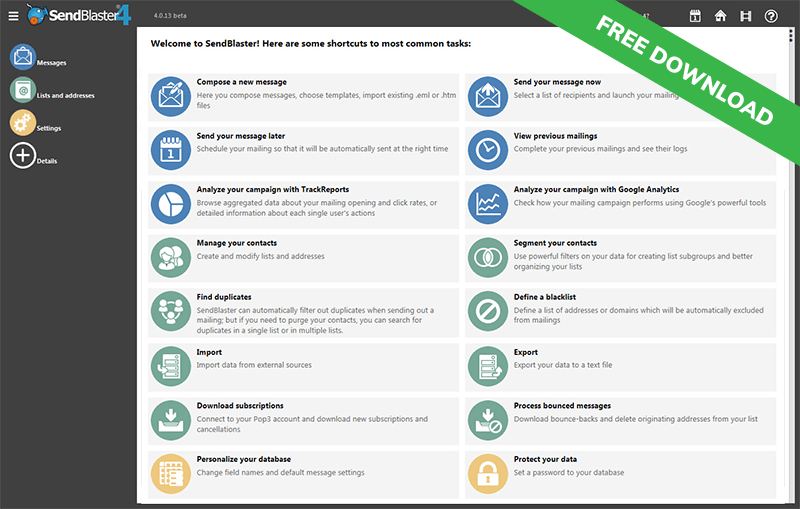 100 free newsletter software for email marketing sendblaster bulk