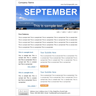 High Impact Email Templates