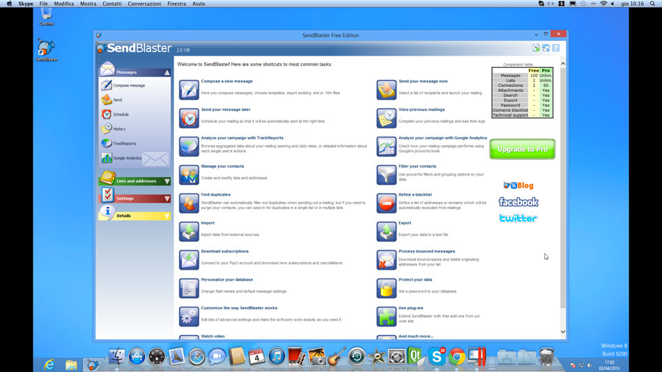 Installare SendBlaster su Mac