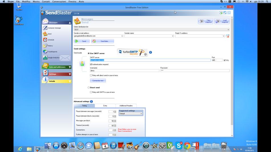 Install SendBlaster on Mac