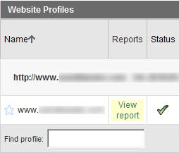 View profile statistics