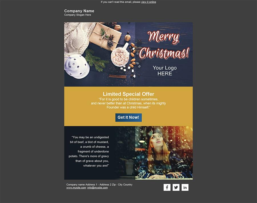 Immagini Natale Email.Crea E Invia La Tua Email Di Auguri Di Natale Sendblaster