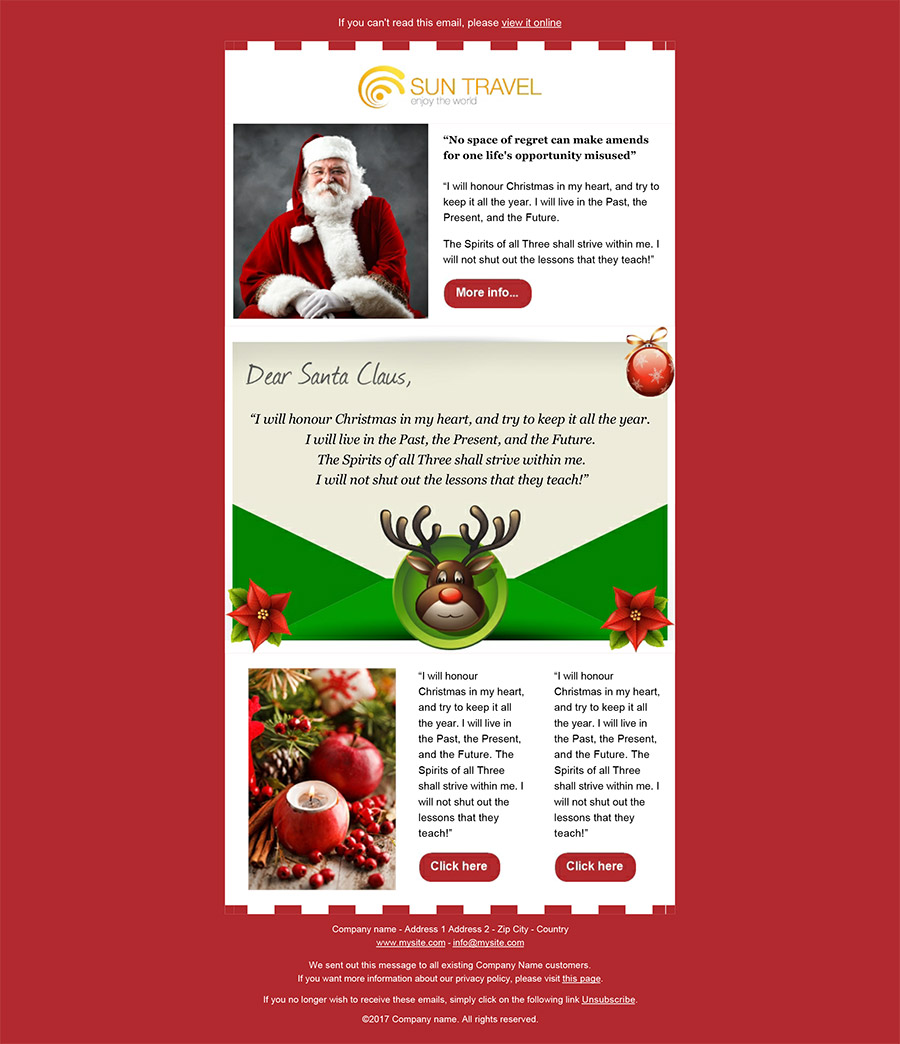 create your christmas newsletters 2018 sendblaster bulk email software