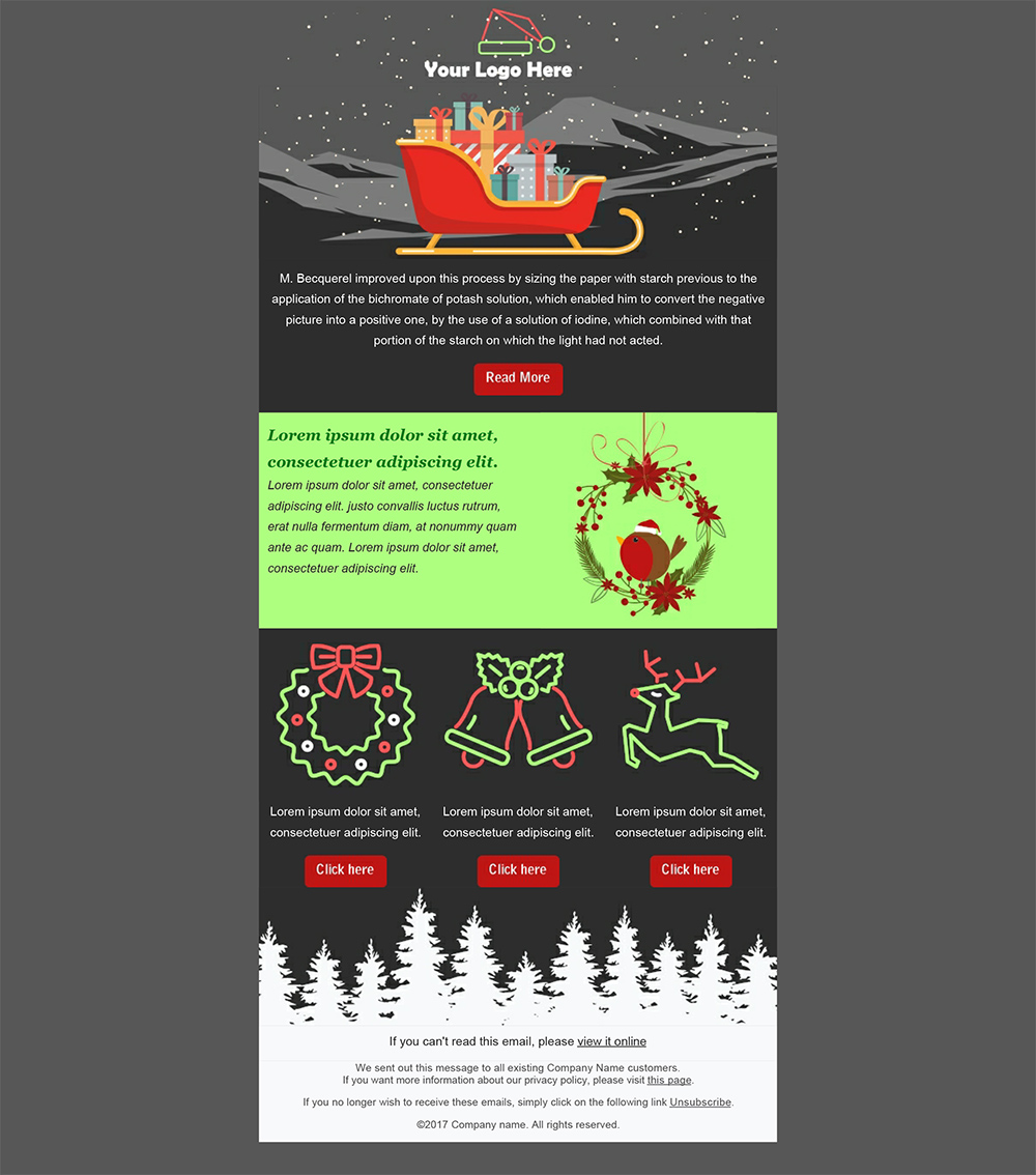 Create your christmas newsletters 2018 sendblaster bulk email software newsletter christmas templates maxwellsz