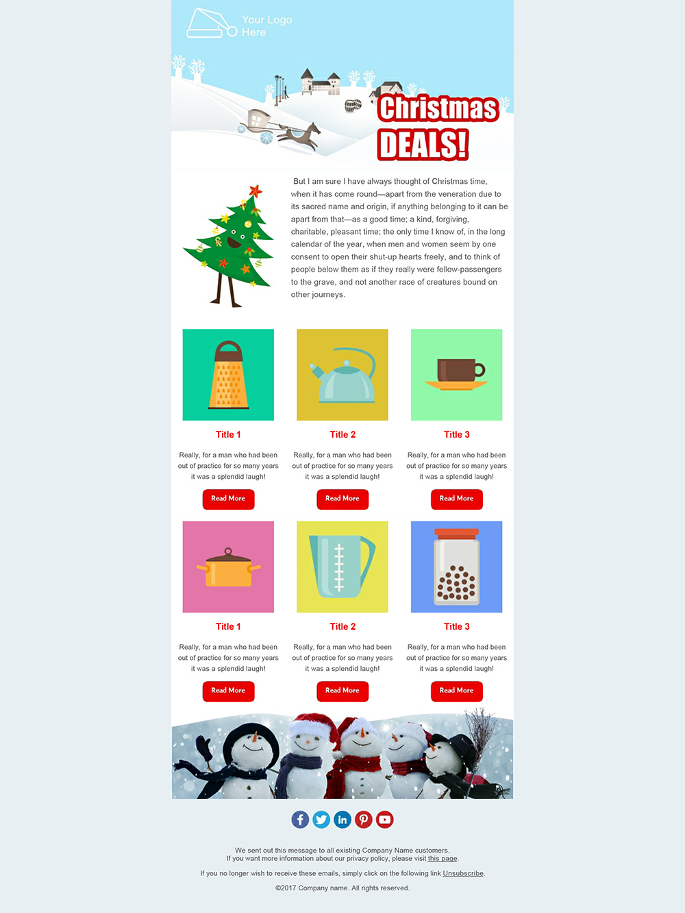 Create your Christmas Newsletters 2018 - SendBlaster bulk email software