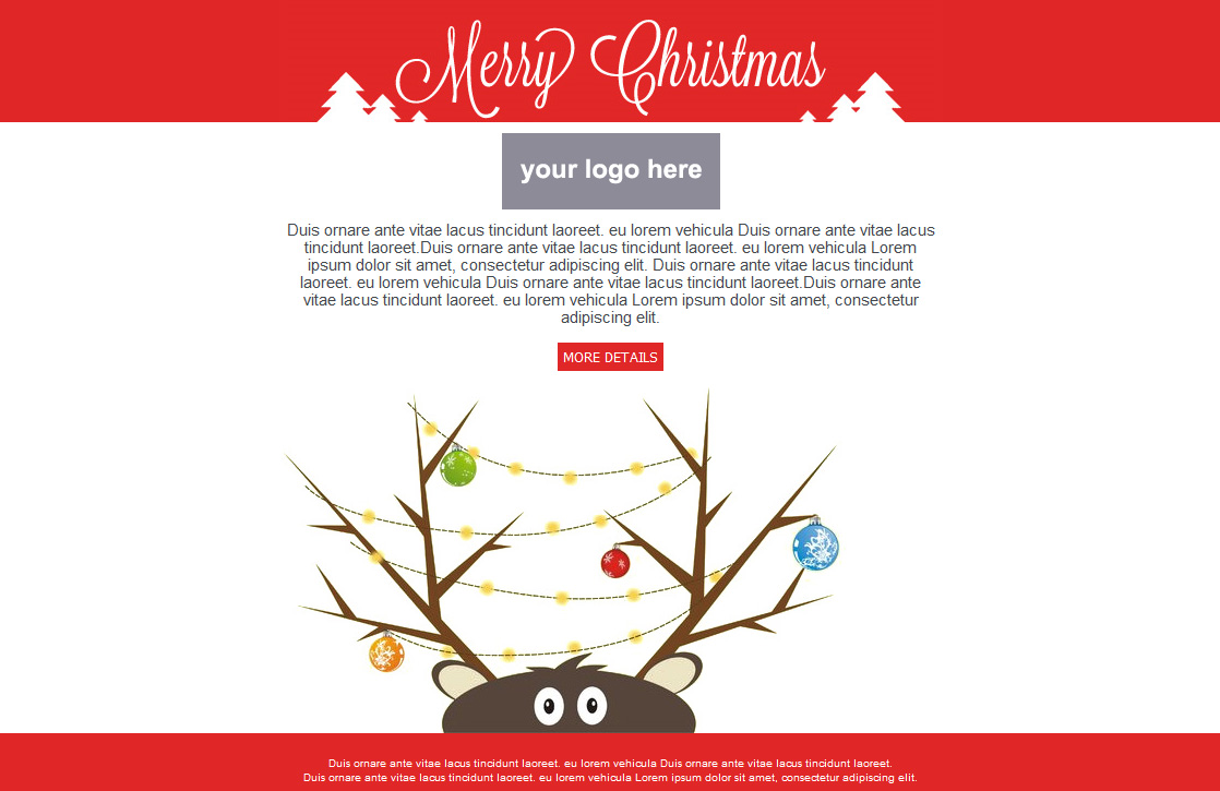 Free Email Templates For Christmas Card Greeting Sendblaster Bulk