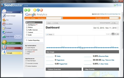 Email campaigns analysis with SendBlaster and Google Analytics