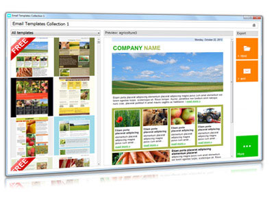 email newsletter template collection sendblaster newsletter software
